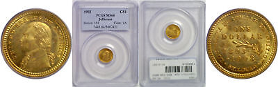 1903 La. Purchase - Jefferson $1 Gold Commemorative PCGS MS-64