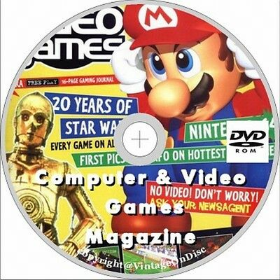 Computer and Video Games Magazine 127 Issues + 2 yearbooks