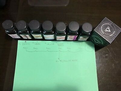 Noodler's Ink Fountain Pen Bottled Ink, 3oz - X7 Mixed Colours And Visconti X1