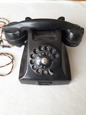 Vintage Rare 1959 Bakelite P&T 614 handset Telephone Working Rotary Dial P&T 538