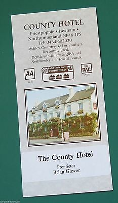 The County Hotel Hexham Northumberland 1980s 90s Promotional
