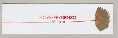 Carte publicitaire - advertising card - Flower by  Kenzo