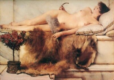CHENPAT820 hand paint lying on the bed lady portrait oil painting art on canvas