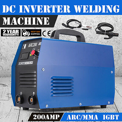 200Amp Inverter Arc Welder Machine Dual Voltage 110V/220V Steel IGBT Stable