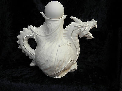 Ceramic Bisque Ready to Paint Dragon Teapot and stopper