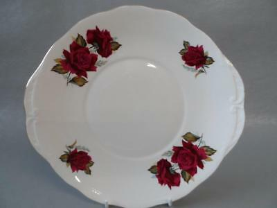 Royal Vale Red Roses Twin Handled Cake Plate Shabby Chic Weddings Etc