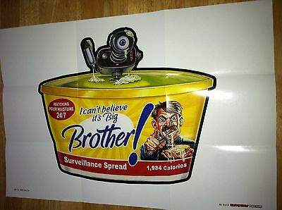 2012 Topps First Series Wacky Packages Posters Adolf Hitler Big Brother #16 War