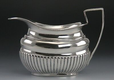 Antique 1887 Victorian English Sterling Silver Creamer