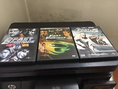 Lot  De  3   Dvd    Fast  And   Furious     Vin  Diesel     Paul   Walker