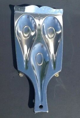 Vintage 3 Spoon SpoonRest Silver Tone Metal Stove Top Cooking Utensil