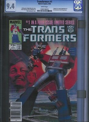 Transformers # 1 CGC 9.4  White Pages. UnRestored.