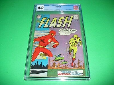 The Flash #139 CGC 4.0 w/ CR/OW pages 1963! 1st app Reverse Flash DC not CBCS