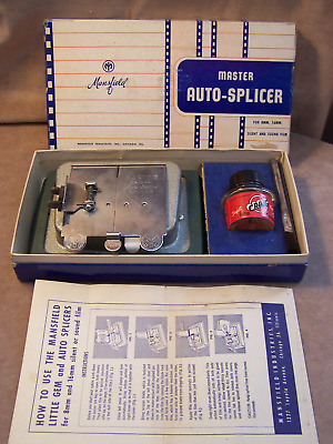 Vintage Mansfield Master Auto-Splicer for 8 & 16 mm Film - Original Box - Used
