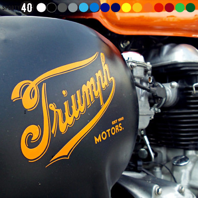 Triumph Vinyl Decal / Sticker- Triumph Thruxton Bonneville Cafe Racer 2325-0119