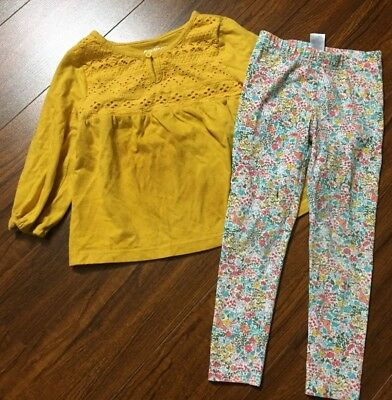 Oshkosh & Carters Toddler Girls Fall Outfit Fox Bunny Flowers Size 3T 3 T