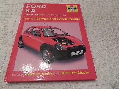 Haynes Workshop Manual  Ford Ka P Reg Onwards
