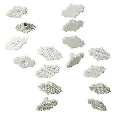 PME Set of 4 Creative Plaques Sugarcraft Sugarpaste Embossing Cutter Inserts