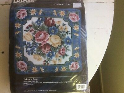 Bucilla Needlepoint Pillow Kit - Tulips And Roses 14x14""
