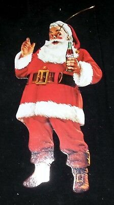Santa Claus Coca-Cola Coke Cardboard Double-Sided Advertisement Display 10 7/8""