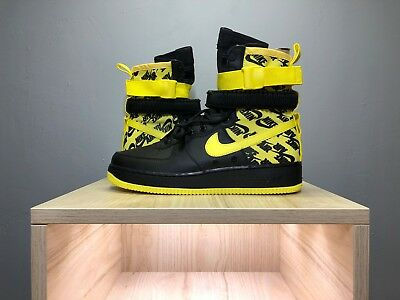 c8ae500500060 NIKE SPECIAL FIELD Air Force 1 SF AF1 High Black Dynamic Yellow Size AR1955  001 -  79.95