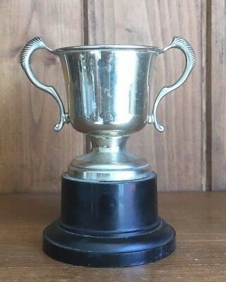 vintage silver plate NOT ENGRAVED trophy, trophy, silver, trophies