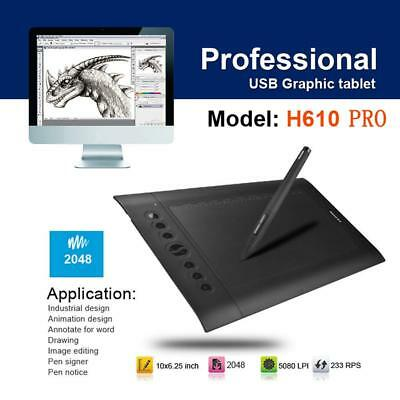 HUION H610PRO Digital Graphic Tablet Signature Animation Drawing Board Notepad