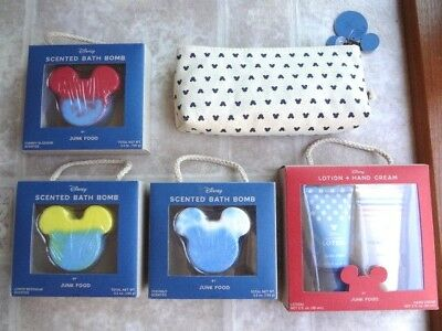 Disney Mickey Mouse Junk Food Set: Bath Bombs, Lotion & Cosmetic Bag