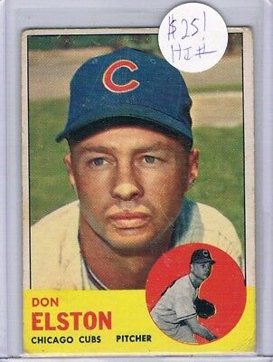 1963 Topps High SP #515 Don Elston Chicago Cubs MID GRADE FREE S&H $25