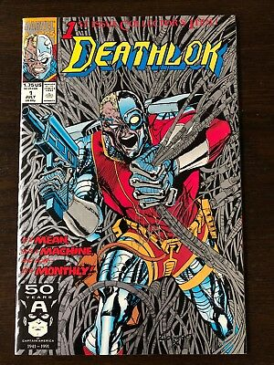 DEATHLOK #1 (1991) 9.6-9.8 Near Mint+ (NM+) SIGNED by DENYS COWAN!