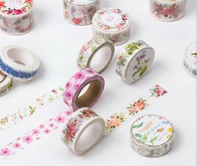 Japan Washi Tape Flowers and greens 15mm x 8m MT093