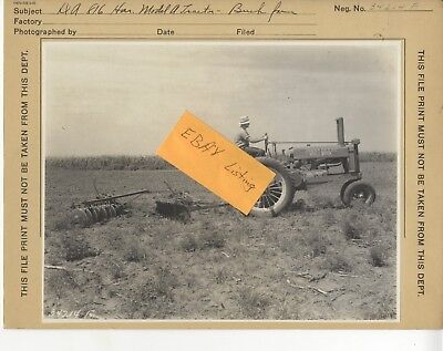 1934 John Deere Open fan Shaft A Tractor Disk Old Original JD Factory Photo