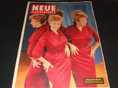 "Marilyn Monroe … half side inside … german magazine ""Neue Illustrierte"" … 1956"