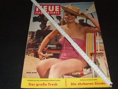 "Heidi Brühl … on cover … german magazine ""Neue Illustrierte"" … 1958"