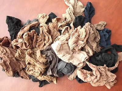 vtg lot 15 pair sheer Pantyhose nylons assort size color brands Office or Craft