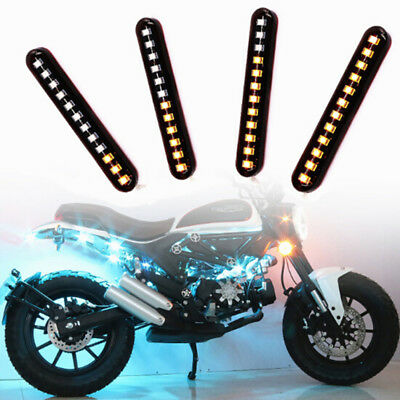 Switchback Car DRL 12 LED Light Strip Tube Sequential Turn Signal Lights Cool FT