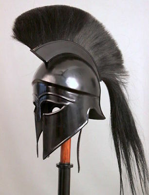 The Vikings Halloween Costume Ancient Greek Corinthian Helmet Black Plum SCA