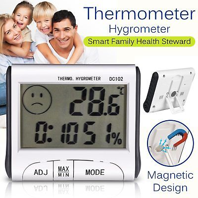 Digital Indoor Thermometer Humidity Meter Kitchen Room Indoor Outdoor Hygrometer
