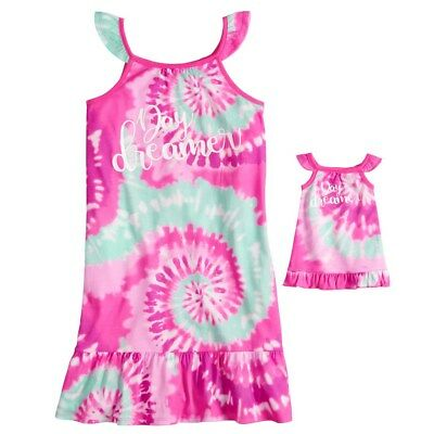 NWT Girls Day Dreamer Nightgown Matching Doll Gown Fit American Girl Dollie    Me c129ea9d2