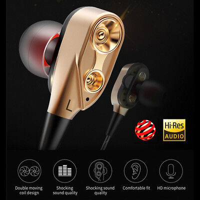 HIFI In-Ear Super Bass Stereo Earphone Earbuds Headphone Headset With Mic Hot