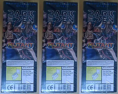 Dark Eden TCG - Mutant Chronicles - Lot of 3 Starter Boxes #5551 (Mint, Sealed)
