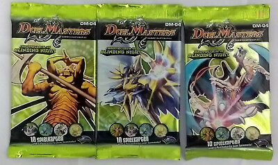 Duel Masters TCG - DM-04 - Shadowclash Lot 3x Booster Pack (Mint, Sealed)