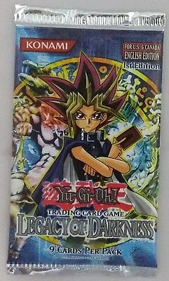 YuGiOh - Yu-Gi-Oh - Legacy of Darkness First Edition Booster Pack (Mint, Sealed)