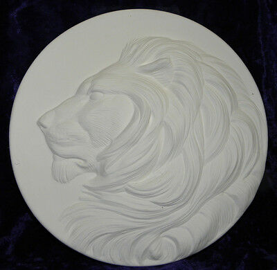 """Ceramic Bisque Ready to Paint Lion  Plate 8"""""""