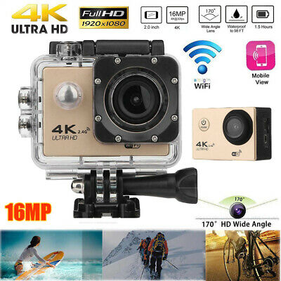 4K WiFi Waterproof Action Camera 1080P 16MP 170° Sports DV Camera For GOPRO AU