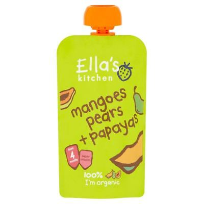 Ellas Kitchen Stage 1 Mangoes Pears & Papayas 120g (Pack of 7)