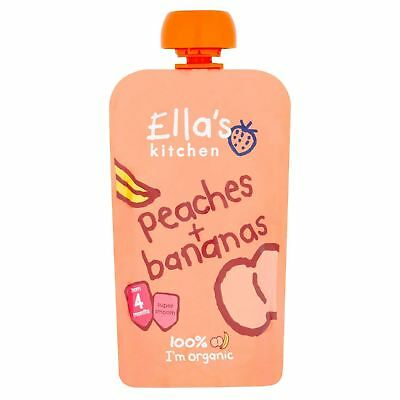 Ellas Kitchen Stage 1 Peaches & Bananas 120g (Pack of 7)