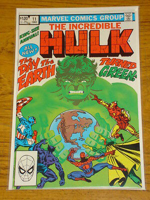 Incredible Hulk Annual #11 Vol1 Marvel Comics Scarce 1982