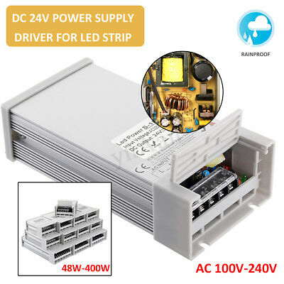Lot Universal 24V 48-400W Switching Power Supply Driver Rainproof for LED