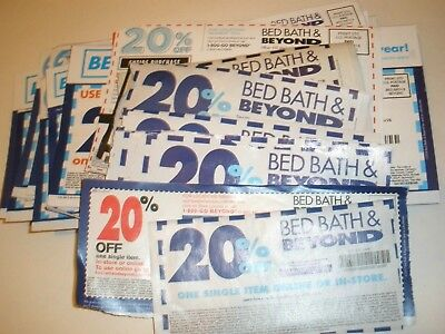 lot of 17 BED BATH & BEYOND  20% OFF  (16 Single & 1 Entire, ) Fast  Ship