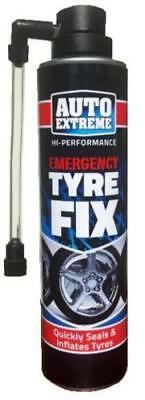 Auto Extreme Quick Tyre Inflate Repair Fix Spray - Puncture Repair 300ml
